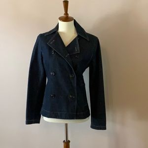 The Limited Double Breasted Jean Jacket Size XS